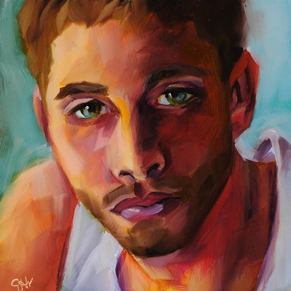 """""""Earnest"""" original fine art by Janette Harter"""