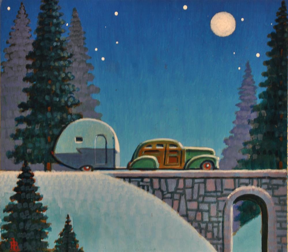 """""""Snow Bird"""" original fine art by Robert LaDuke"""
