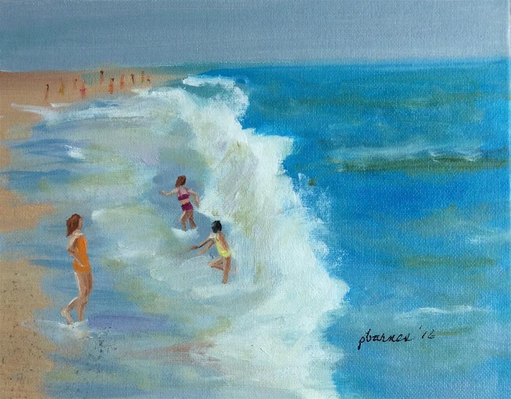 """The Girls"" original fine art by Patty Barnes"