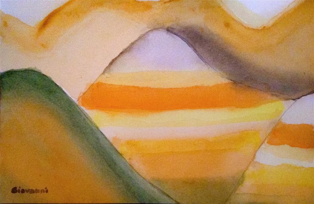 """Badlands 1, South Dakota"" original fine art by Giovanni Antunez"