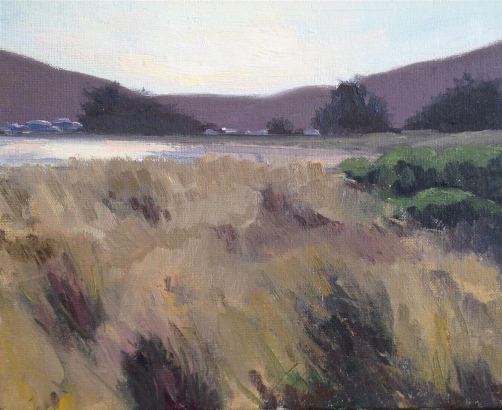 """""""Doran Beach Dunes"""" original fine art by Wendy Franklin"""