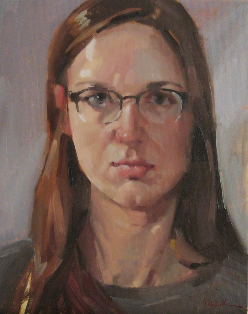 """Self Portrait Sketch no. 2"" original fine art by Sarah Sedwick"