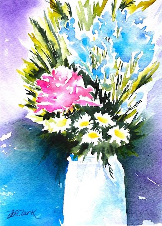 """""""White Vase"""" original fine art by Judith Freeman Clark"""