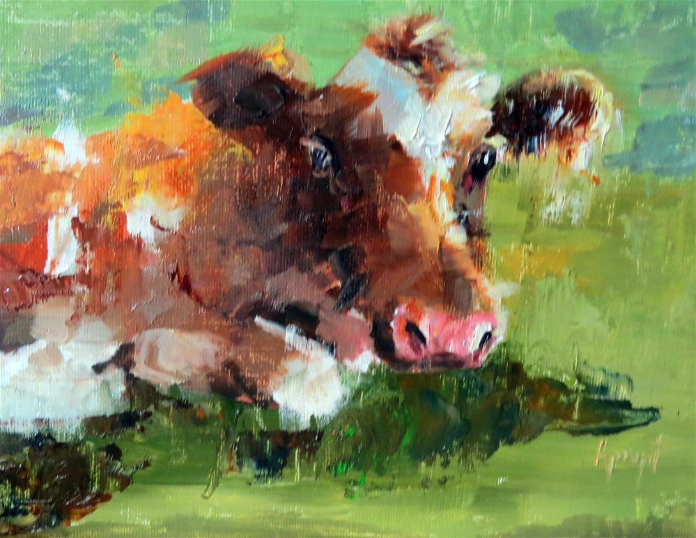 """Cow #1"" original fine art by Anne Marie Propst"