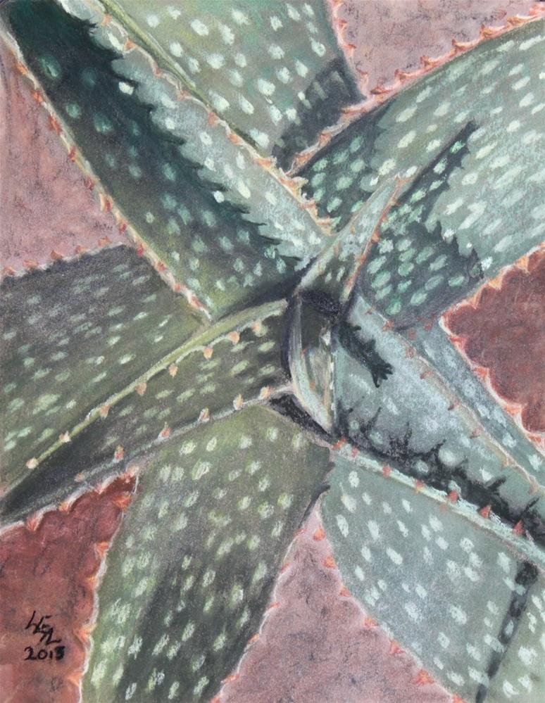"""Joy's Aloe"" original fine art by Anna Lisa Leal"