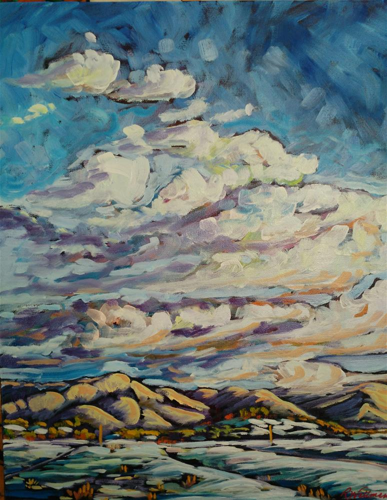 """Winter Clouds, NM"" original fine art by Robyn Wellman"