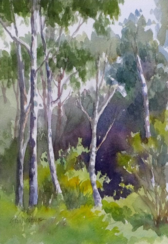 """""""Birch Grove"""" original fine art by Erin Dertner"""