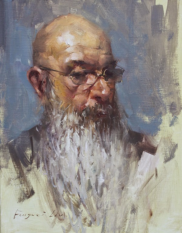"""John"" original fine art by Fongwei Liu"