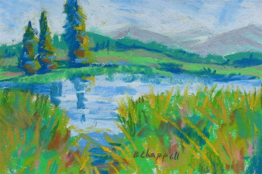"""Ruby Anthracite to Beaver Ponds"" original fine art by Becky Chappell"