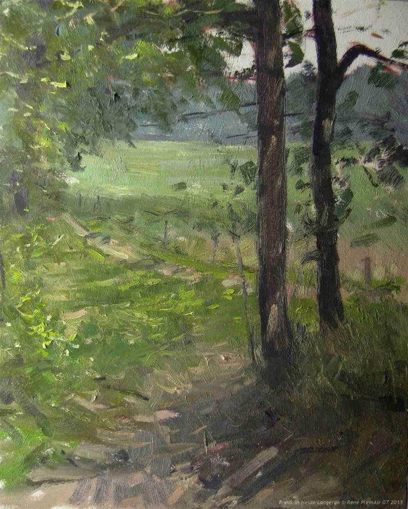 """Breuk in Heide Langerak The Netherlands"" original fine art by René PleinAir"