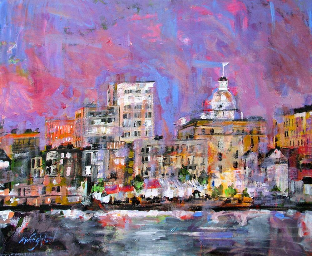 """River Street"" original fine art by Molly Wright"