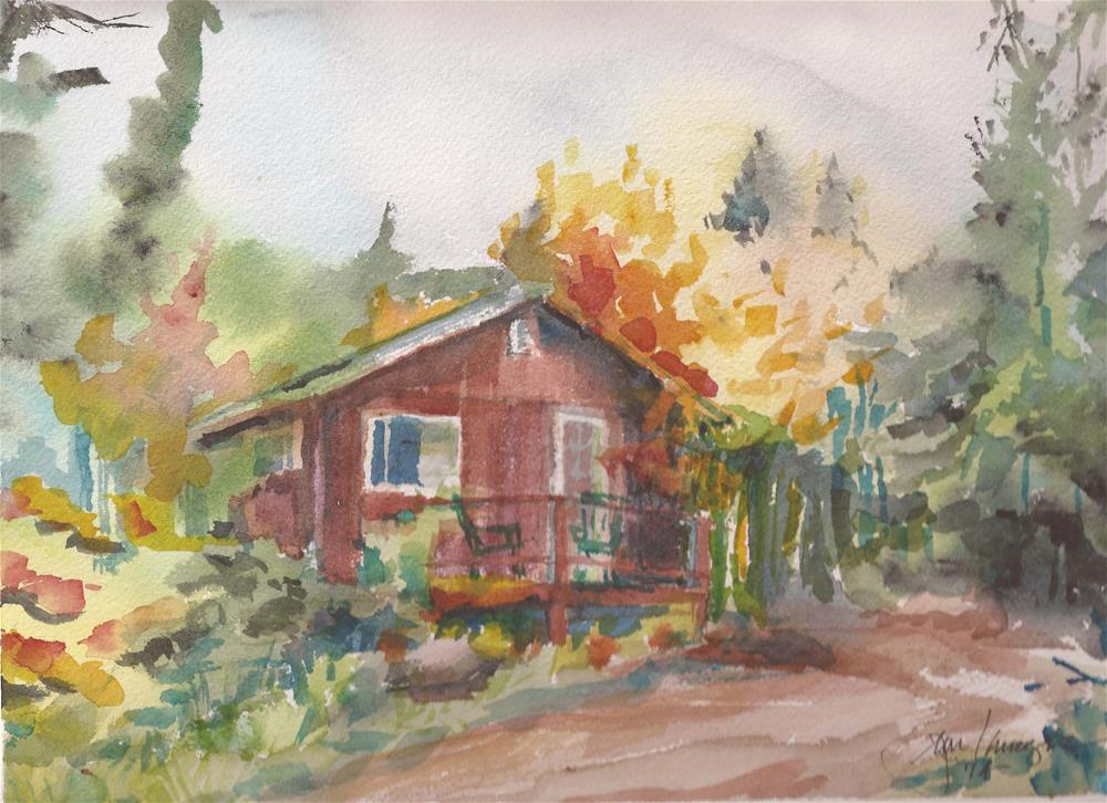 """Alpine Lodge, Westclliffe, Colorado"" original fine art by Jean Krueger"