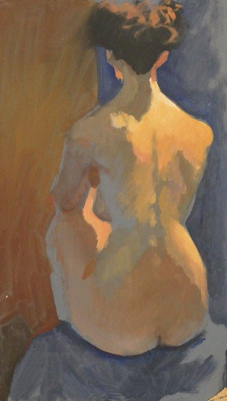 """Nude back"" original fine art by Peter Orrock"