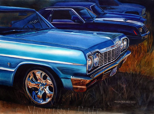 """Supercharged"" original fine art by Monika Pate"