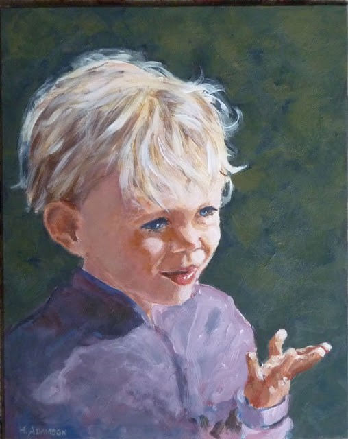 """Little Miss Sunshine"" original fine art by Helene Adamson"