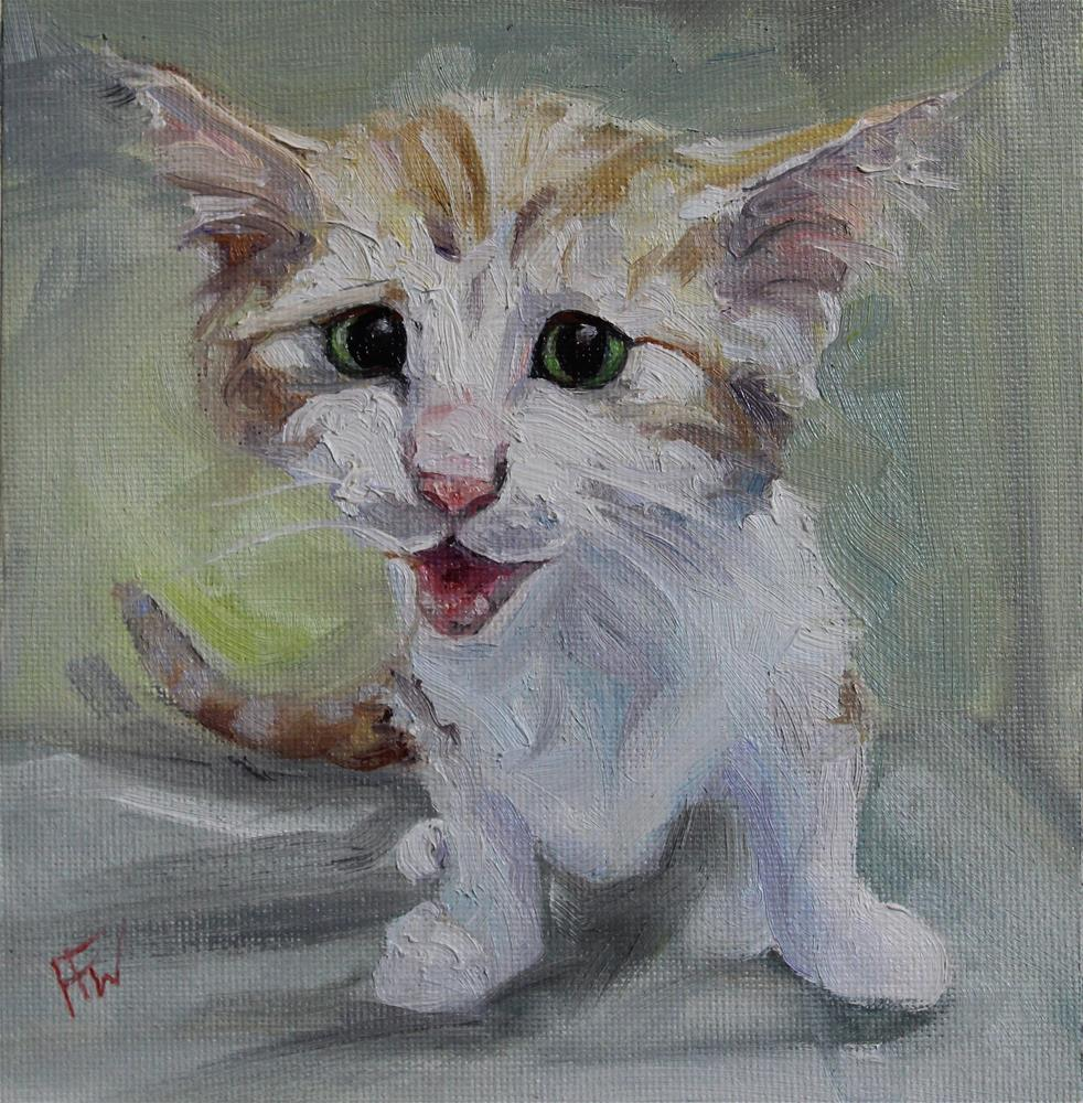 """Crazy Kitten"" original fine art by H.F. Wallen"