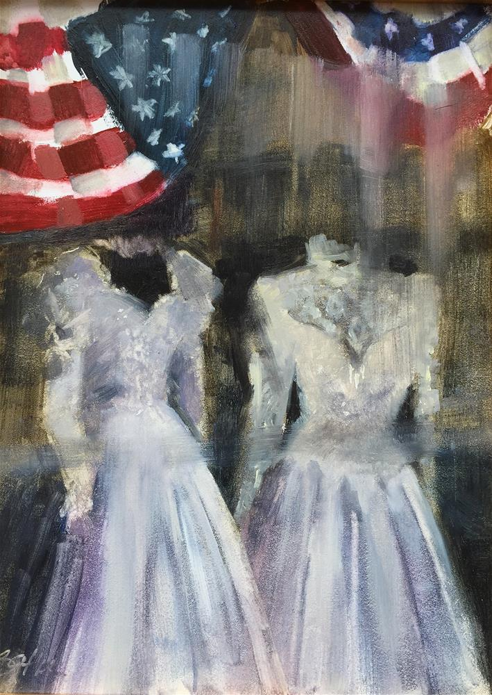 """American Wedding"" original fine art by Beth Bathe"