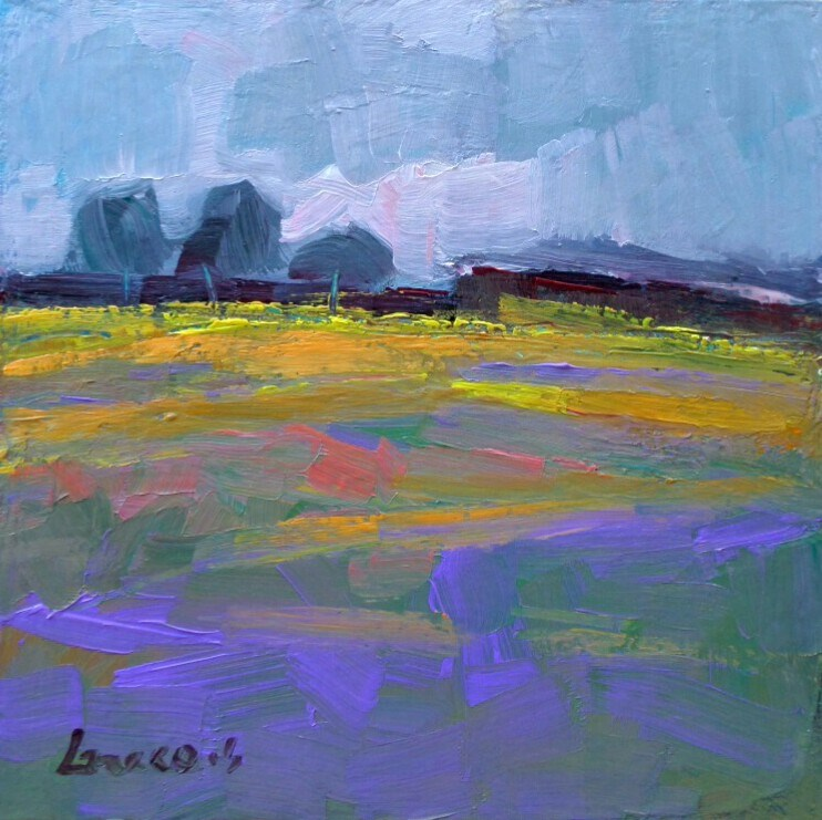 """The purple field"" original fine art by salvatore greco"