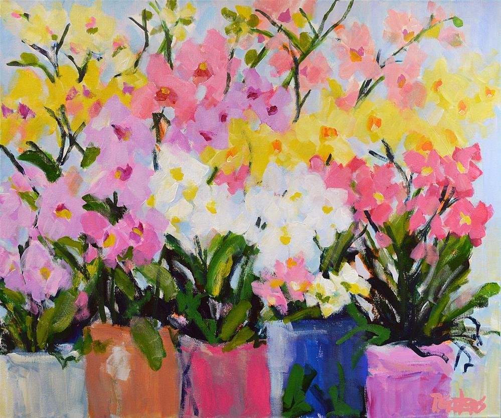"""Rainbow Orchids"" original fine art by Pamela Gatens"