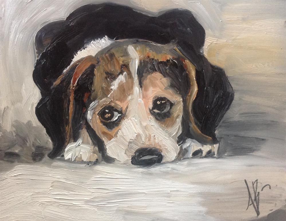 """Beagle Puppy"" original fine art by Annette Balesteri"