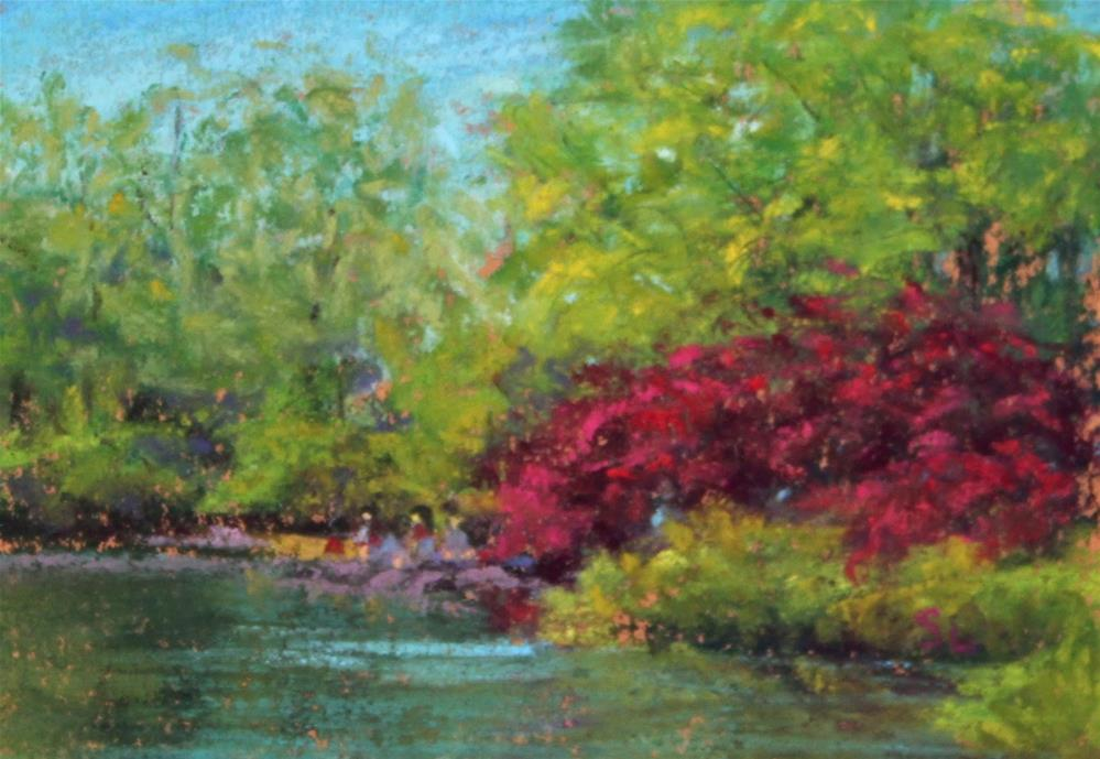 """Central Park"" original fine art by Sharon Lewis"