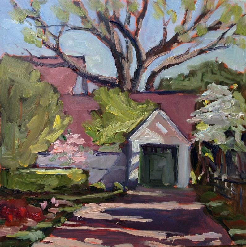 """Dappled Drive"" original fine art by Claudia L Brookes"