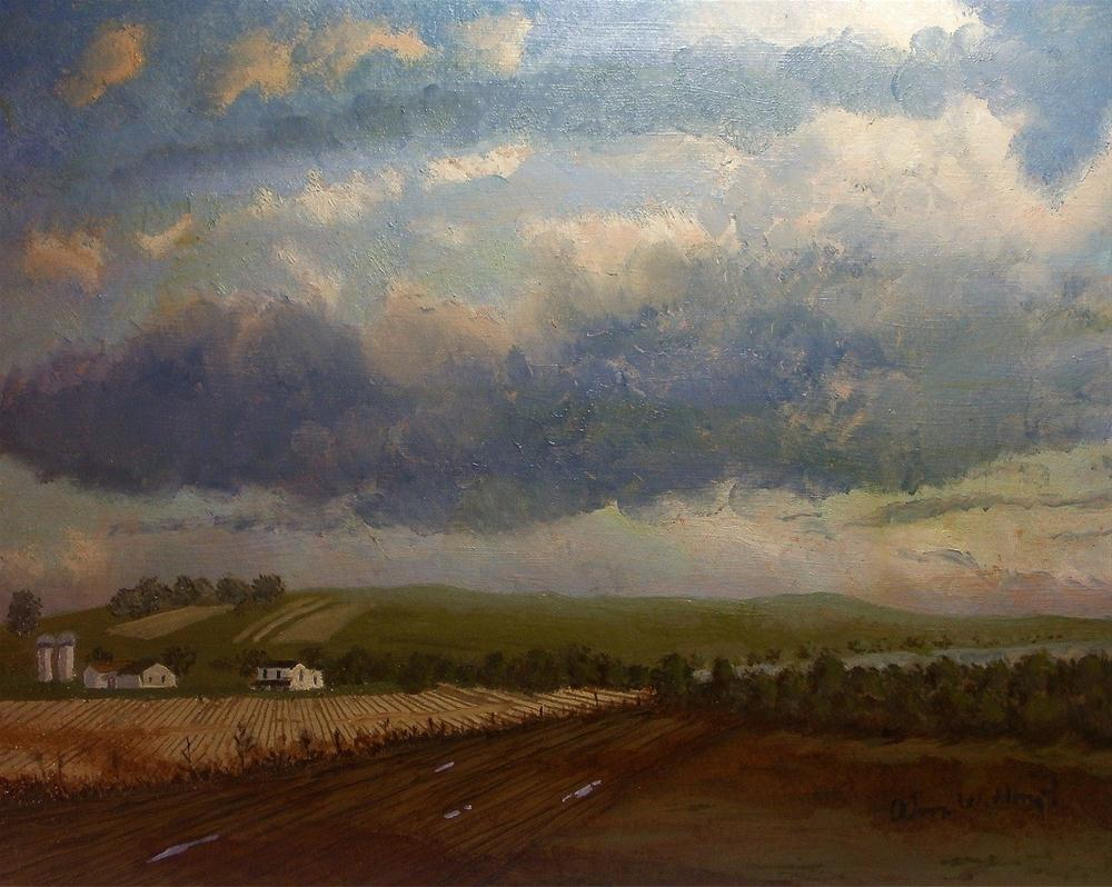 """Great Plains Farm"" original fine art by William W. Hoyt"
