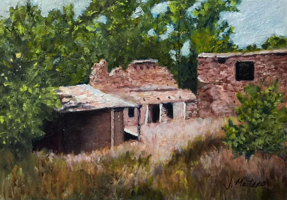 """Abandoned Adobe"" original fine art by Joan Matero"