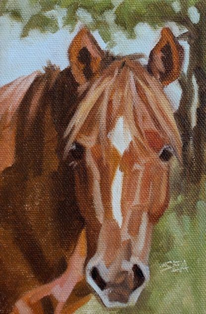 """Sweet Face "" original fine art by Susan Ashmore"
