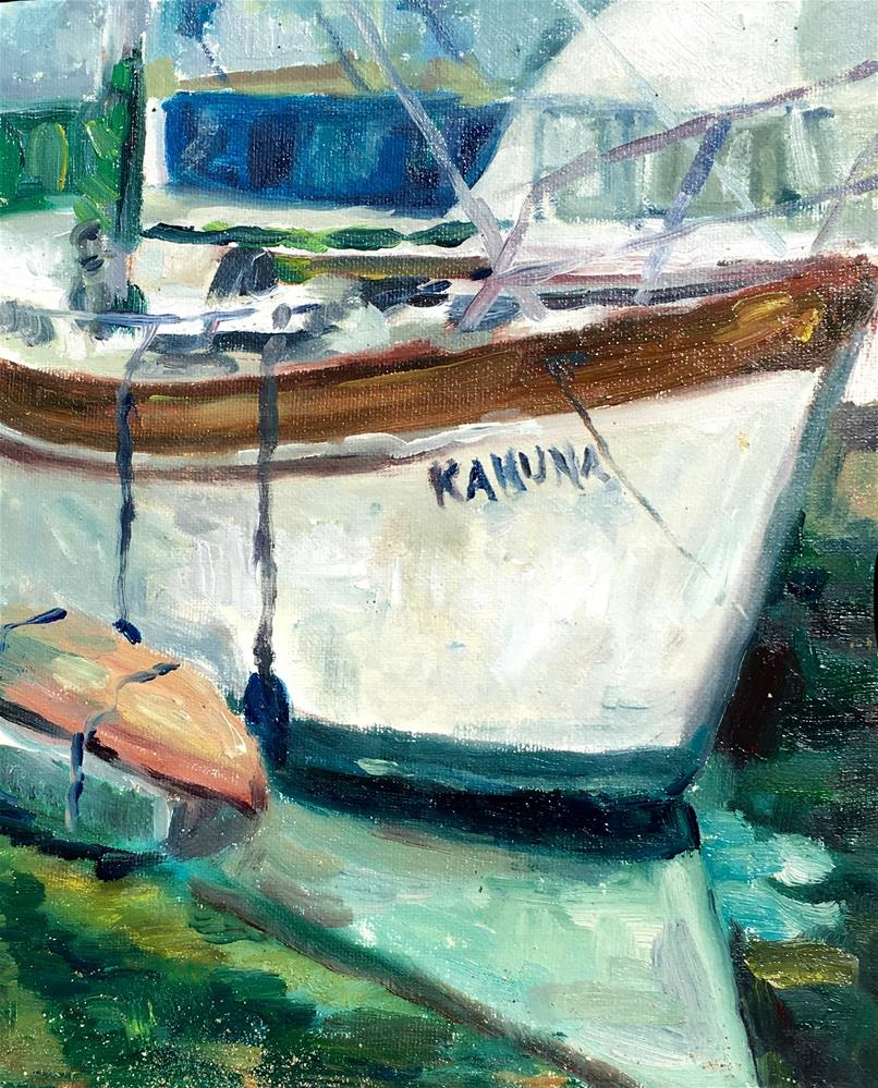 """Kahuna, Waikiki Harbor"" original fine art by Allison Doke"
