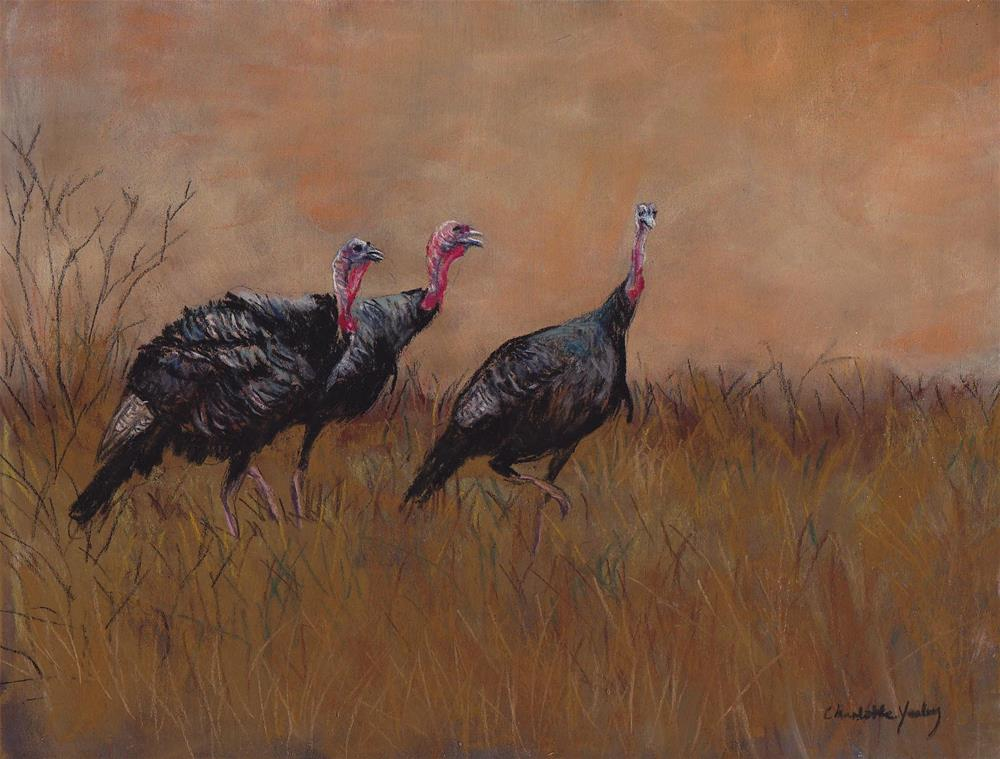"""Three Toms"" original fine art by Charlotte Yealey"