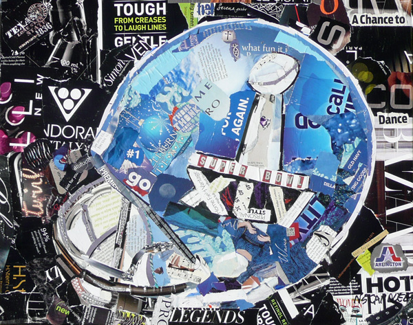 """A Chance to Dance: Superbowl Helmet, 11001 (donated)"" original fine art by Nancy Standlee"