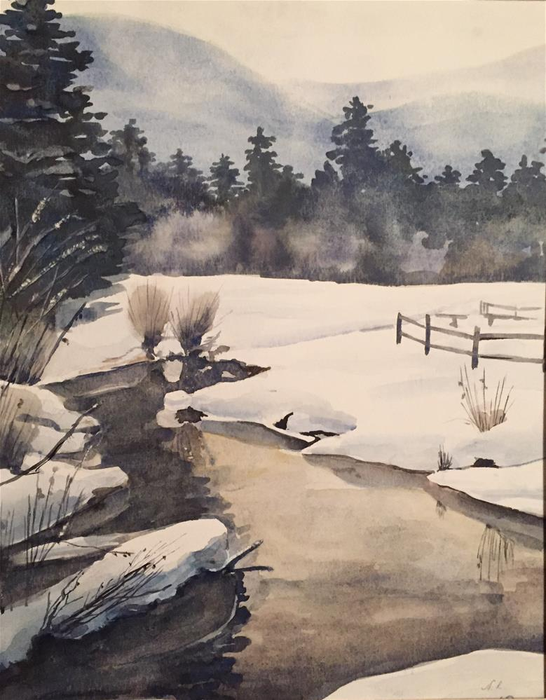 """Cold! "" original fine art by Natasha Ramras"