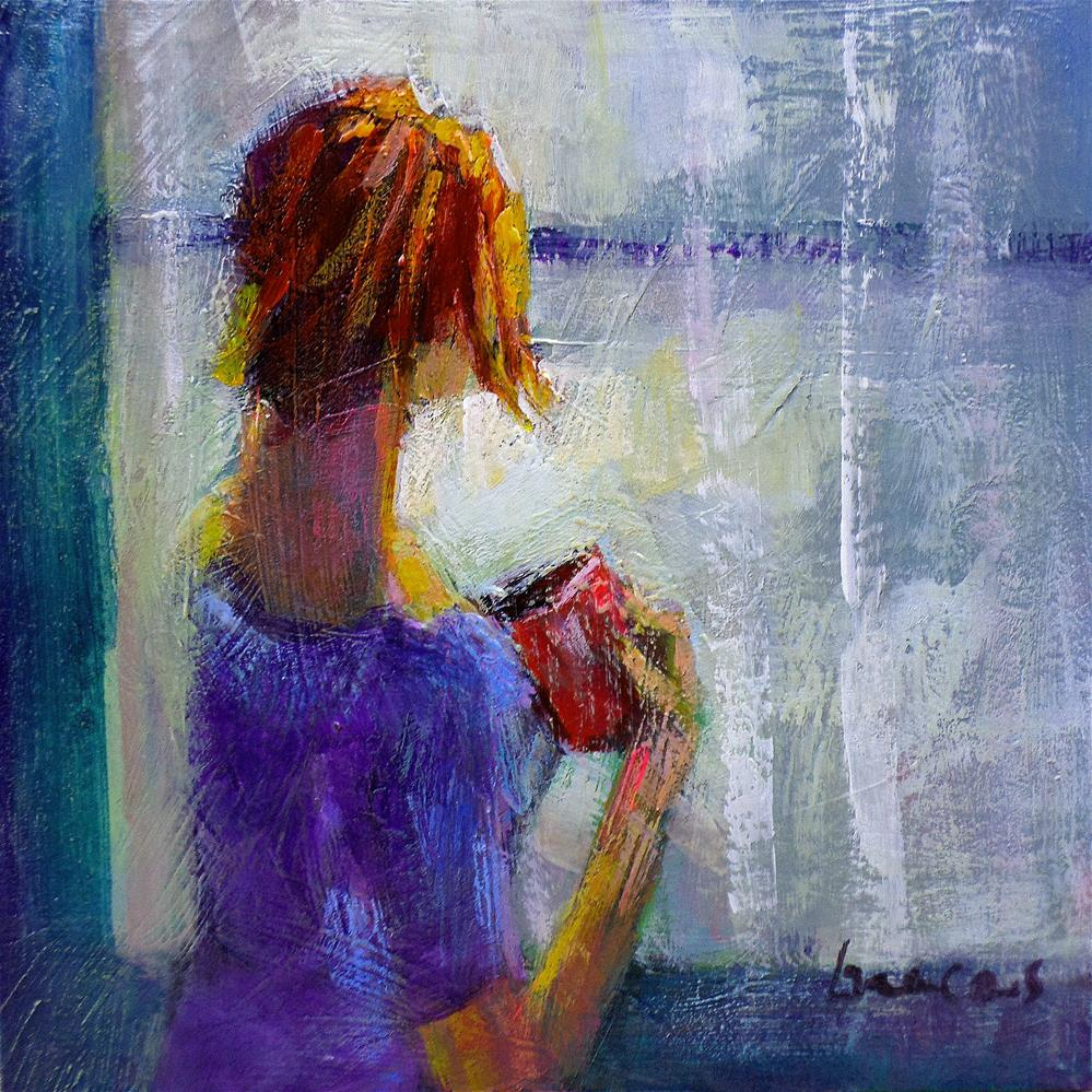 """By the window the rain"" original fine art by salvatore greco"