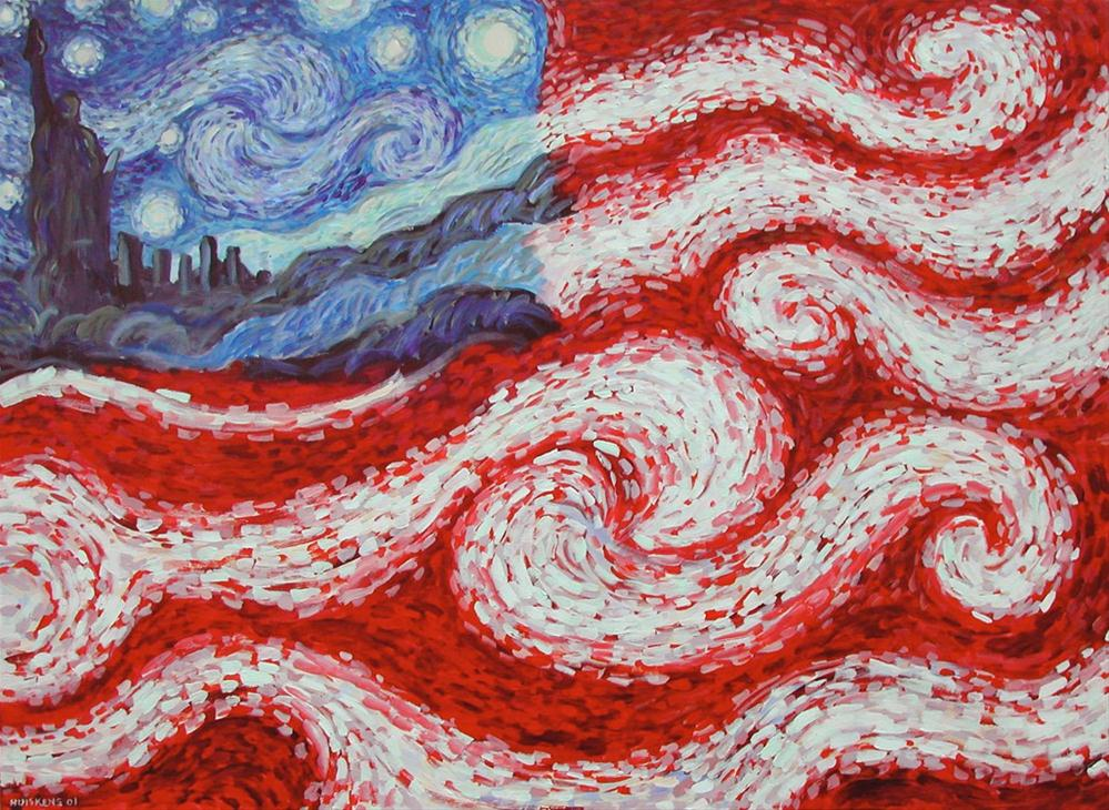 """Starry American Night"" original fine art by Randal Huiskens"