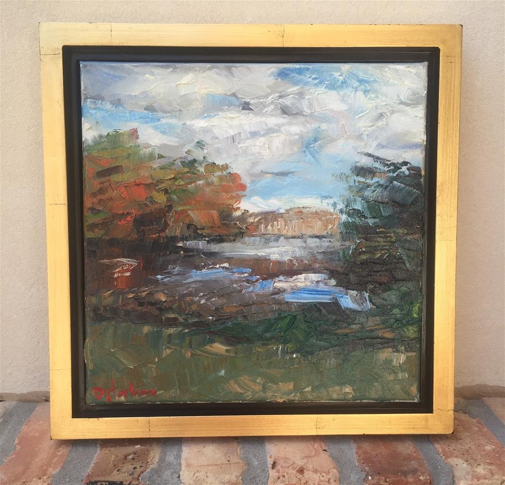 """Tchefuncte and Clouds, Framed"" original fine art by Denise Hopkins"