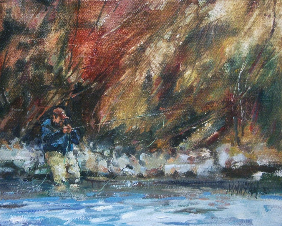 """South Fork Fall"" original fine art by Mary Maxam"