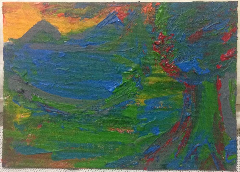 """""""Green like Envy"""" original fine art by Ellis Charles Hoffmeister"""
