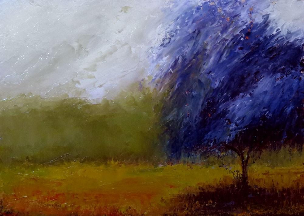 """The Blue Tree"" original fine art by Bob Kimball"