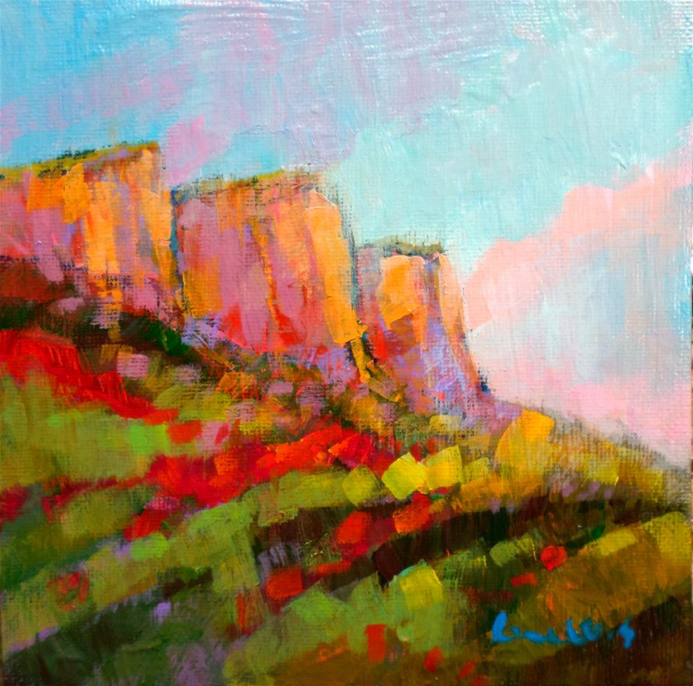 """MOUNTAIN"" original fine art by salvatore greco"