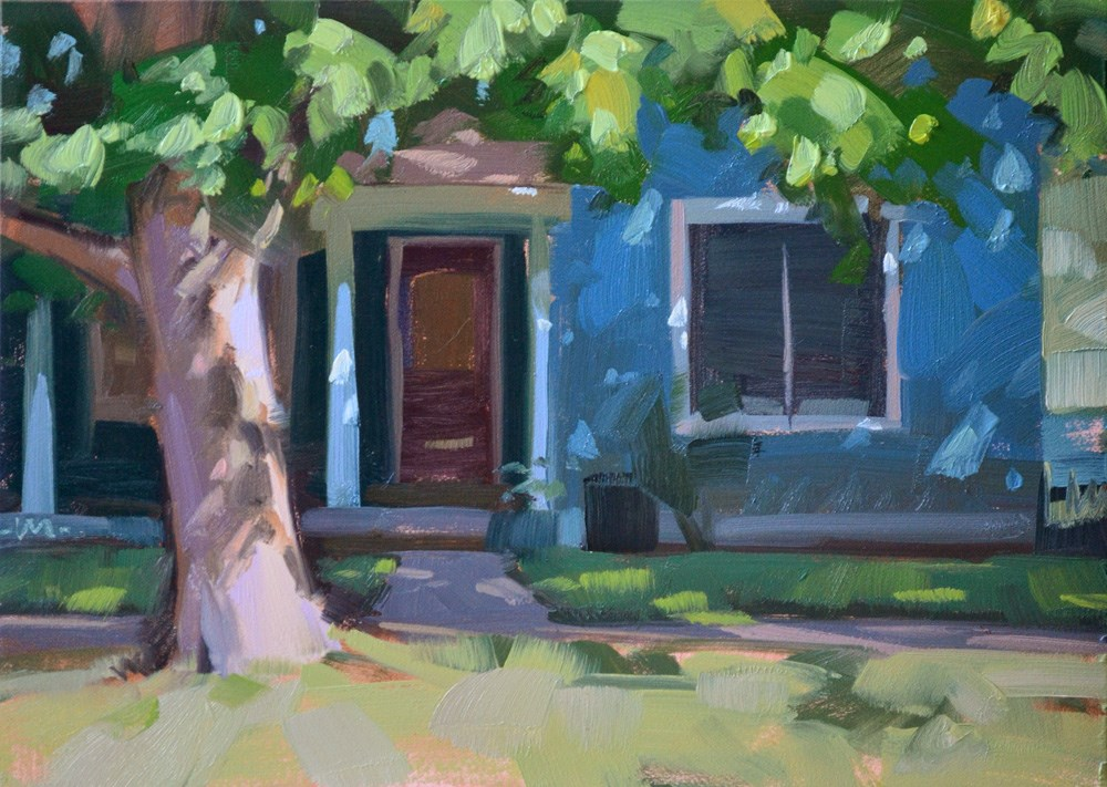 """In the Neighborhood"" original fine art by Carol Marine"