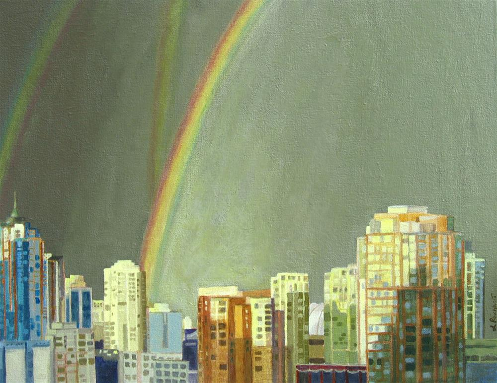 """Vancouver B.C."" original fine art by Lynne Reichhart"