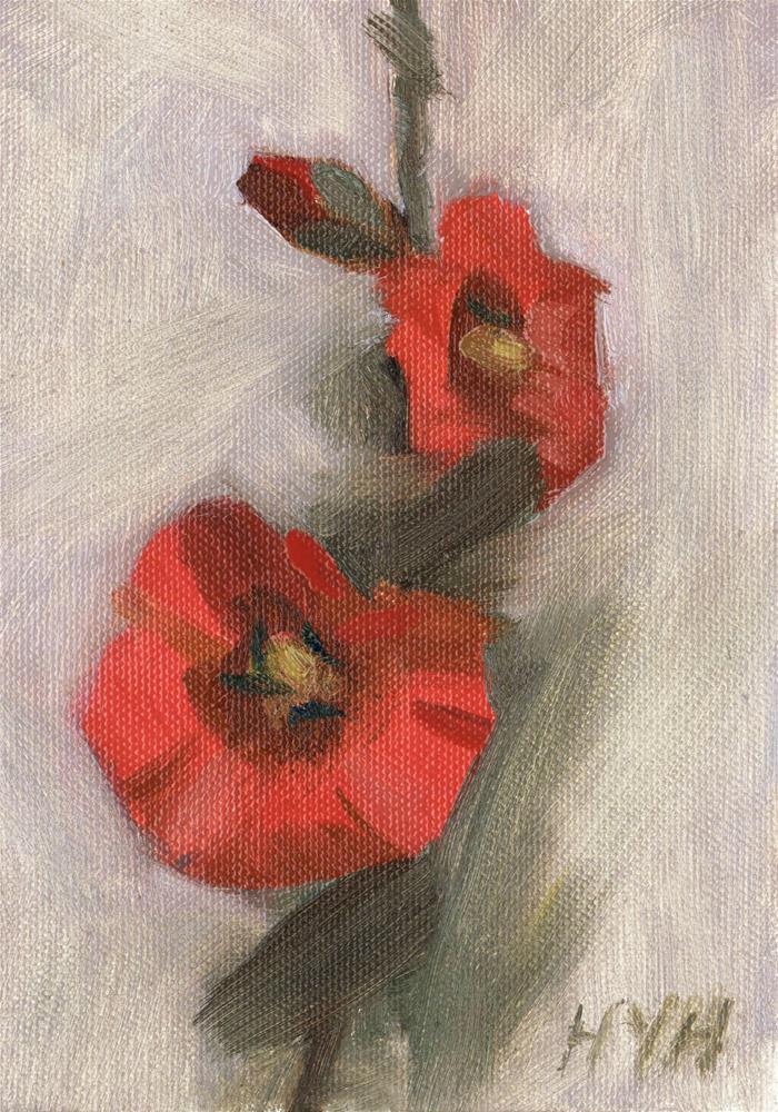 """flower"" original fine art by Yuehua He"
