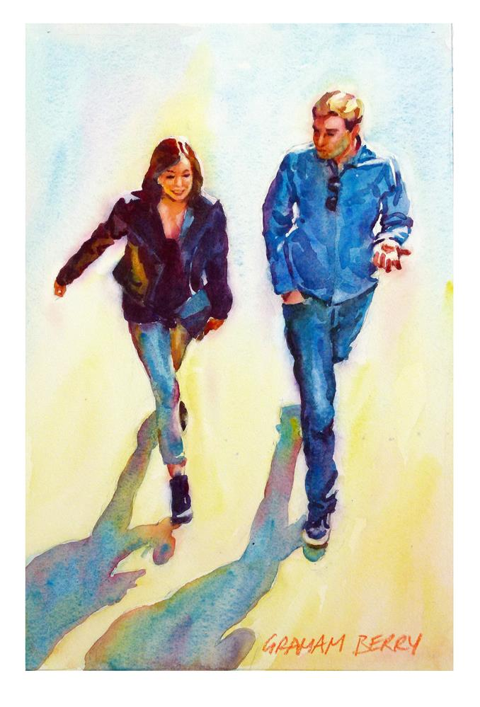 """Just walking and talking"" original fine art by Graham Berry"