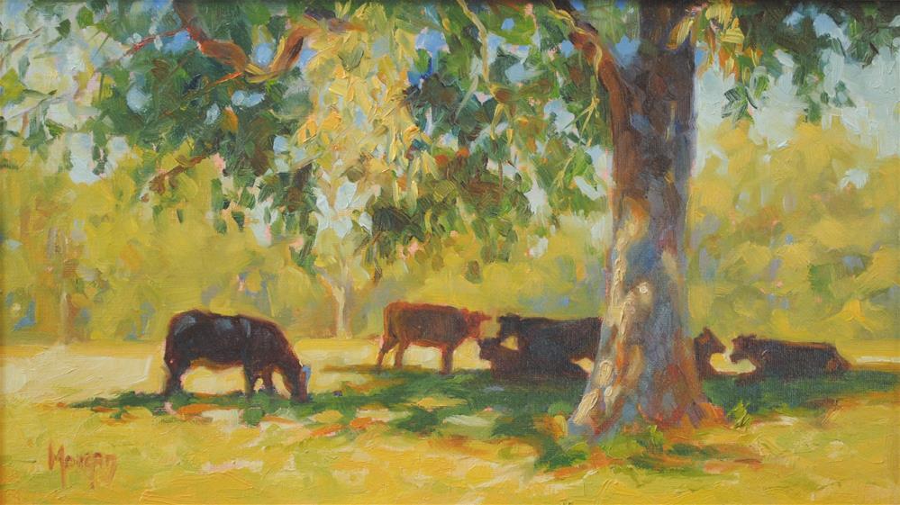 """Summer Pasture"" original fine art by Cecile W. Morgan"