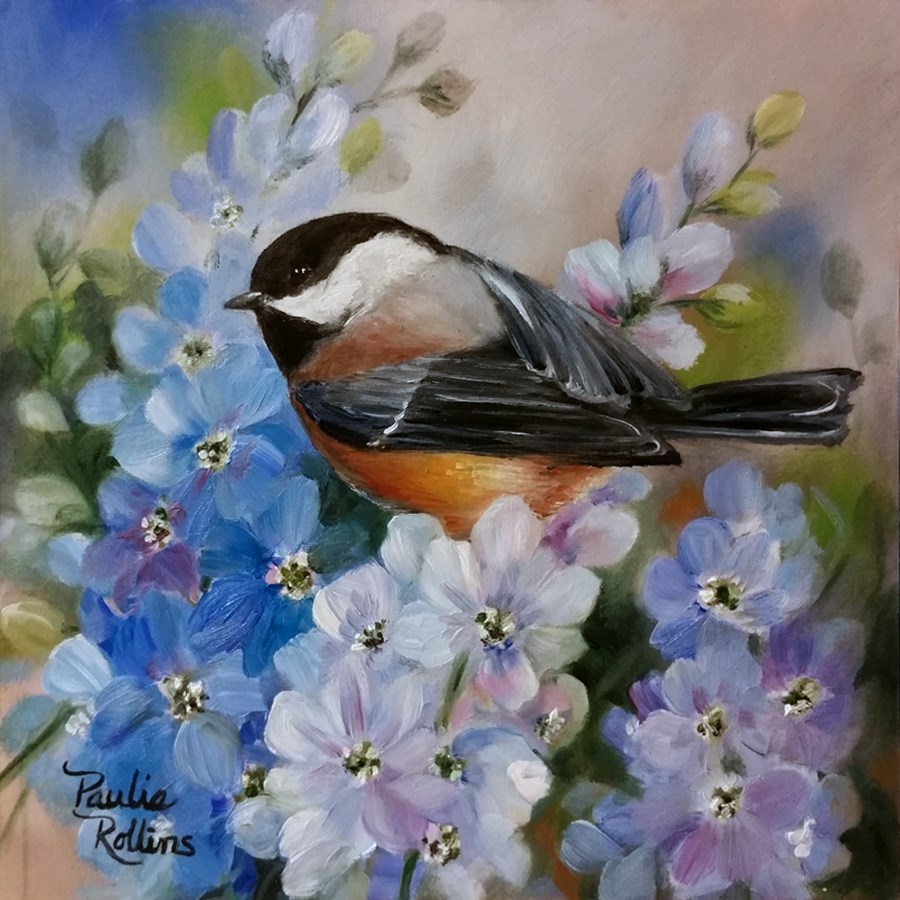 """Sky Petals"" original fine art by Paulie Rollins"