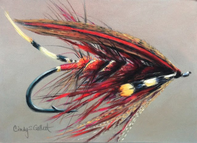 """Fly 14 - Red Special"" original fine art by Cindy Gillett"