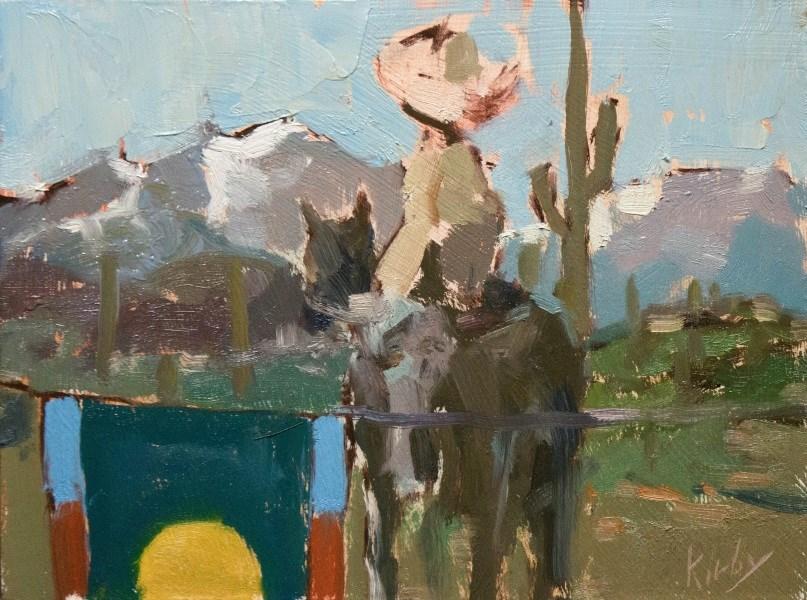 """San Granados Camp"" original fine art by Randall Cogburn"