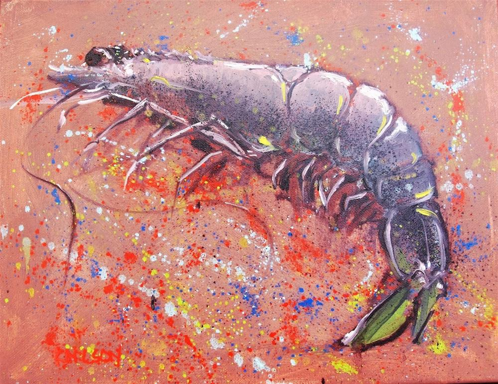 """Party Shrimp"" original fine art by Rick Nilson"