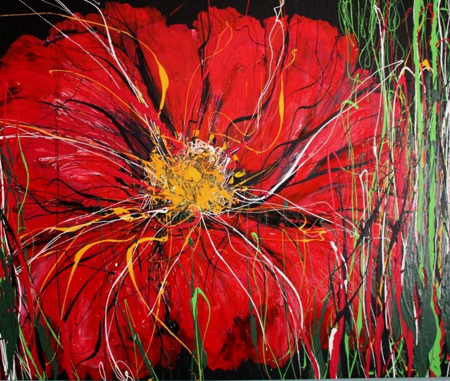 """""""Red Poppy"""" original fine art by Khrystyna Kozyuk"""